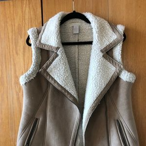 Sheep Fur and Suede Tan Vest